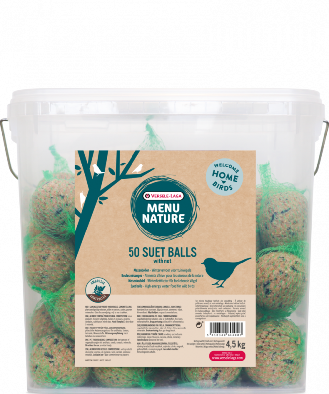 Versele Laga Menu Nature Suet Ball 50 pieces  4.5 kg