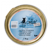 Catz Finefood Fillets No.413 Chicken & Tuna in Jelly 85 g