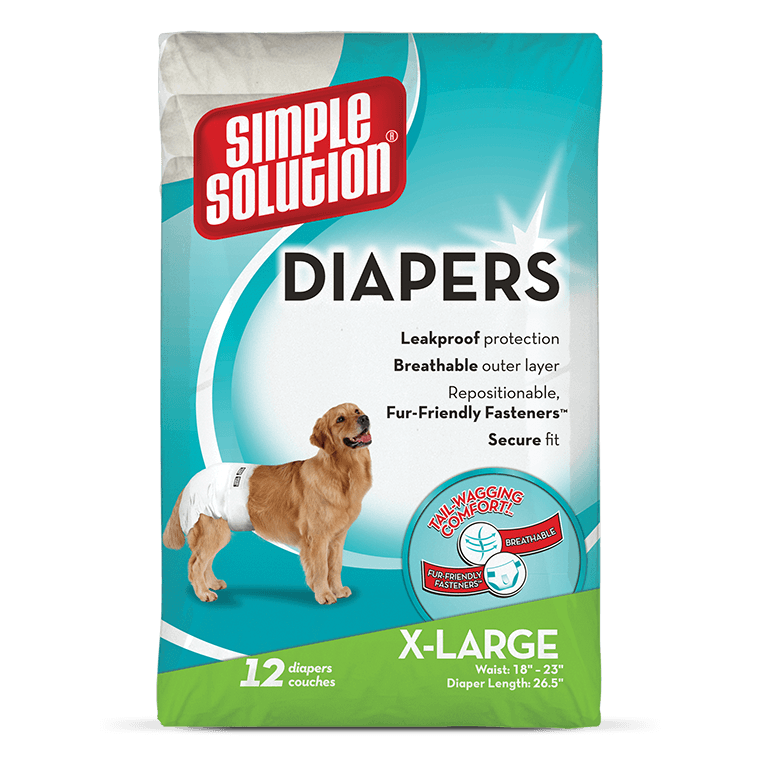 Simple Solution Disposable Dog Diapers X-Large EAN: 0010279920077 reviews