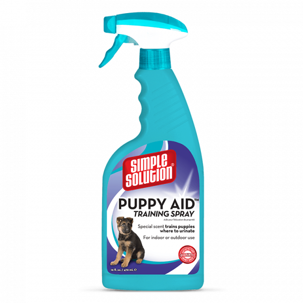 Puppy Aid Training Spray 500 ml  af Simple Solution køb rimeligt og favoribelt med rabat