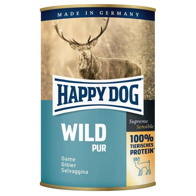 Happy Dog Supreme Sensible Wild Pur - (Riistaa) 200 g, 400 g, 800 g