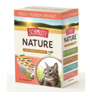 Schmusy Nature Vollwert-Flakes Poisson/Viande Multibox 12x100 g