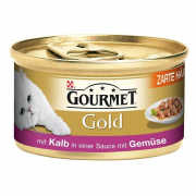 Purina Gourmet Gold - Tender Morcels in Gravy with Veal and Greens 85 g
