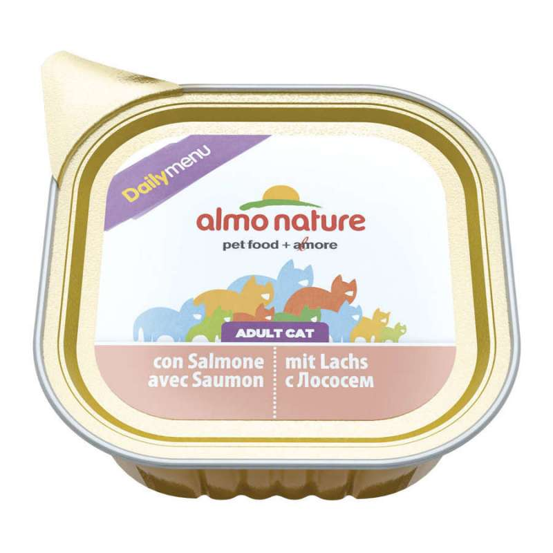 Almo Nature DailyMenu Adult Cat Zalm Kuipje 100 g