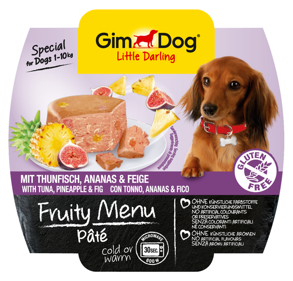 GimDog Fruity Menu Pâté with Tuna, Pineapple and Fig 100 g