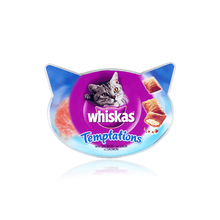 Whiskas Temptations Laks 72 g, 60 g test