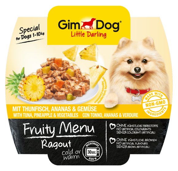 GimDog Fruity Menu Ragout with Tuna, Pineapple and Vegetables EAN: 4002064512273 reviews
