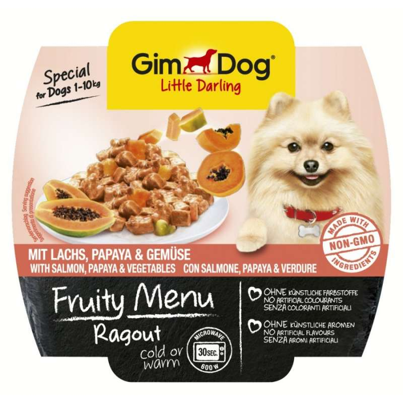 Fruity Menu Ragout with Salmon, Papaya and Vegetables from GimDog 100 g buy online