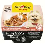 GimDog Fruity Menu Ragout with Salmon, Papaya and Vegetables 100 g