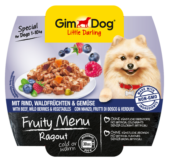 GimDog Fruity Menu Ragout with Beef, wild Berries and Vegetables 4002064512242 kokemuksia