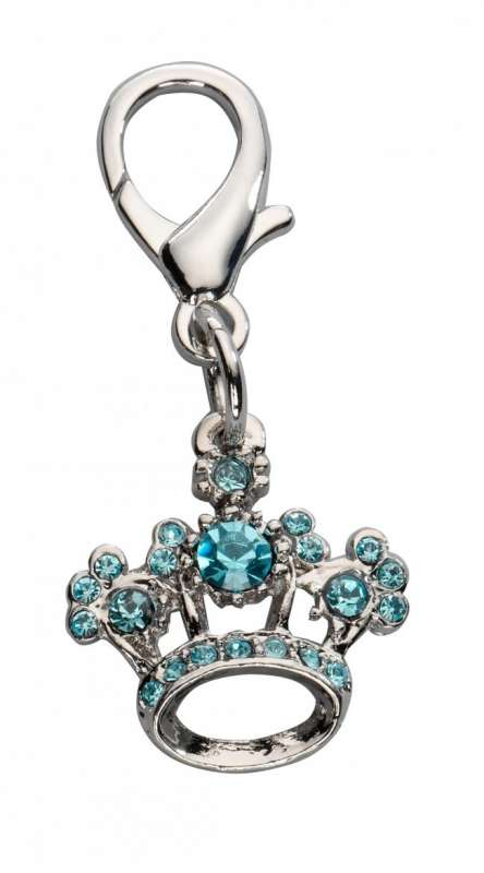 Europet-Bernina Pendente Crown Czech Crystal, blu  Azzurro cielo