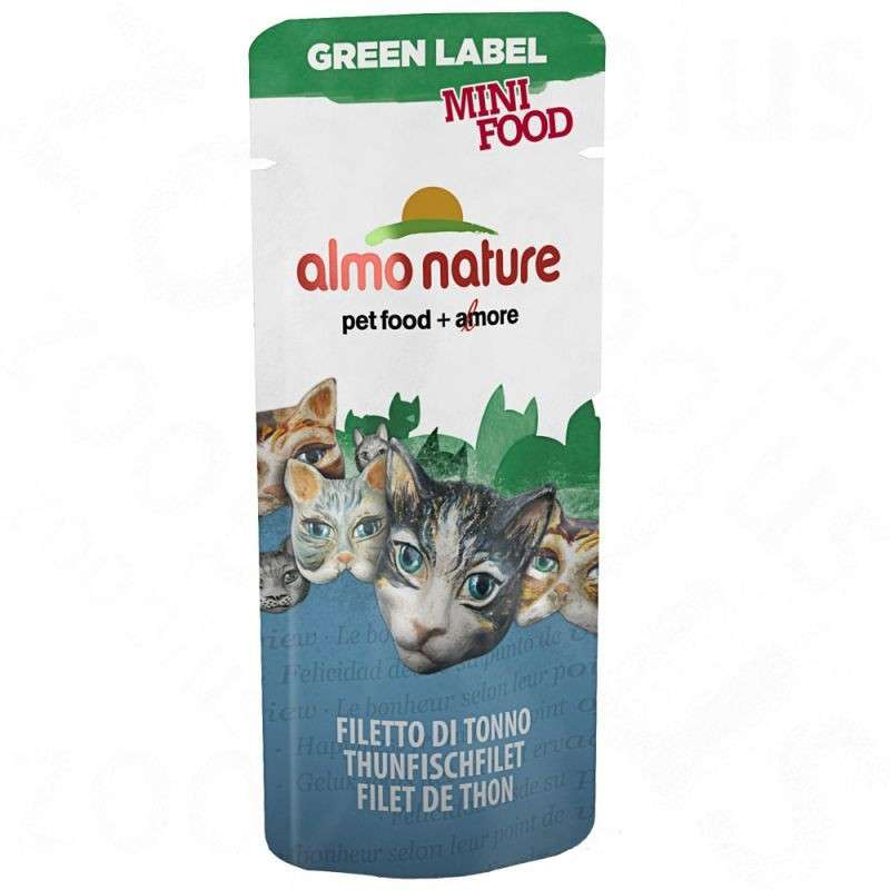 Green Label Mini Food with Tuna Fillet by Almo Nature 3 g buy online