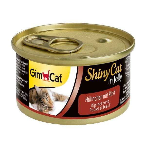 GimCat ShinyCat in Jelly Poulet et Bœuf 70 g