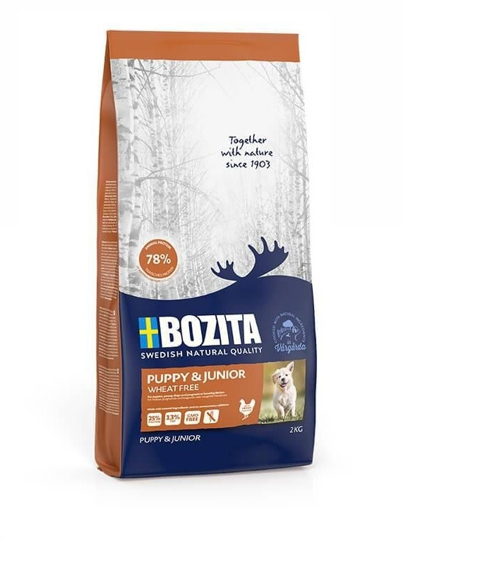 Bozita Puppy & Junior Privo di Grano 12.5 kg, 2 kg