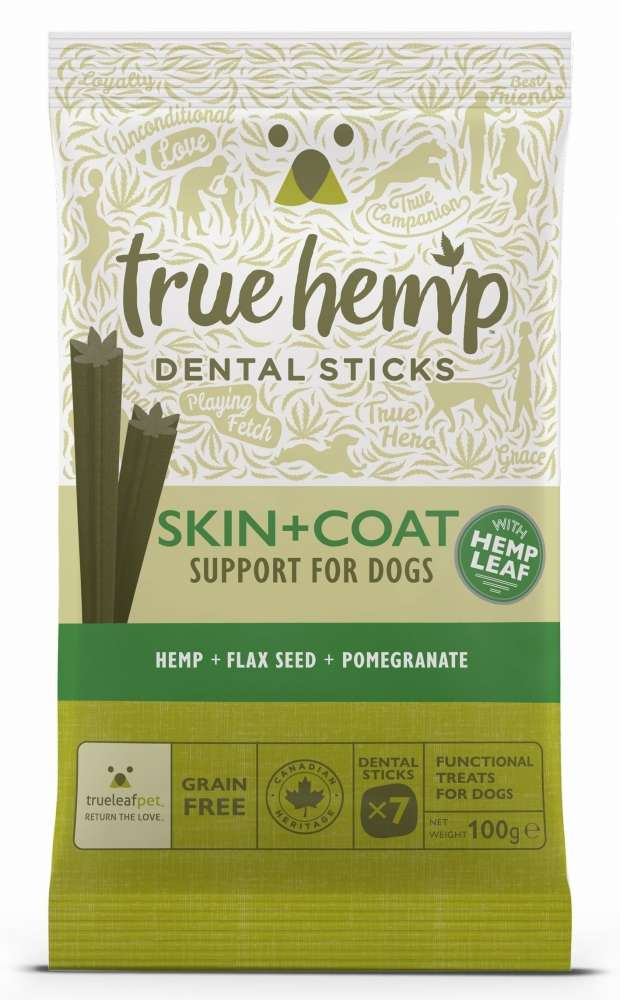 True Hemp Dental Sticks Skin & Coat 100 g kjøp billig med rabatt