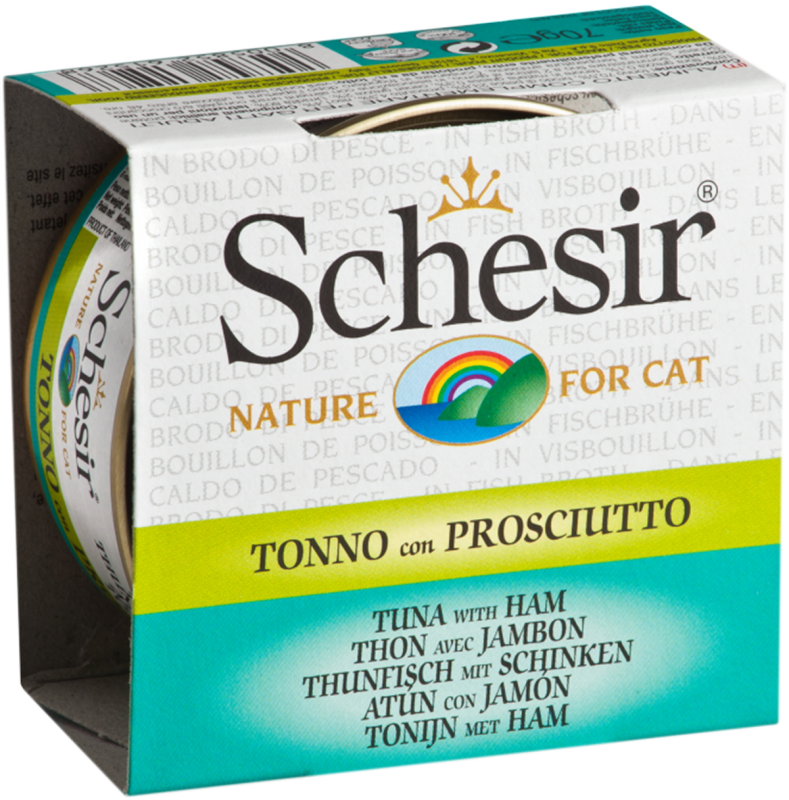 Schesir In Broth - tonnikala & kinkku 14x70 g