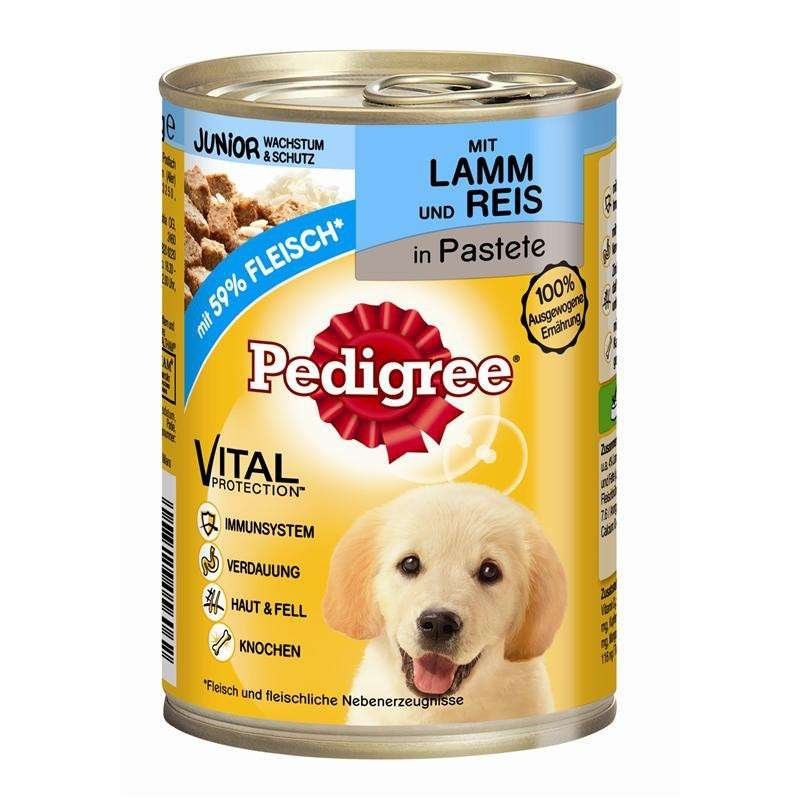 Pedigree Junior Lamsvlees met Rijst in Pastei 400 g 4008429056062