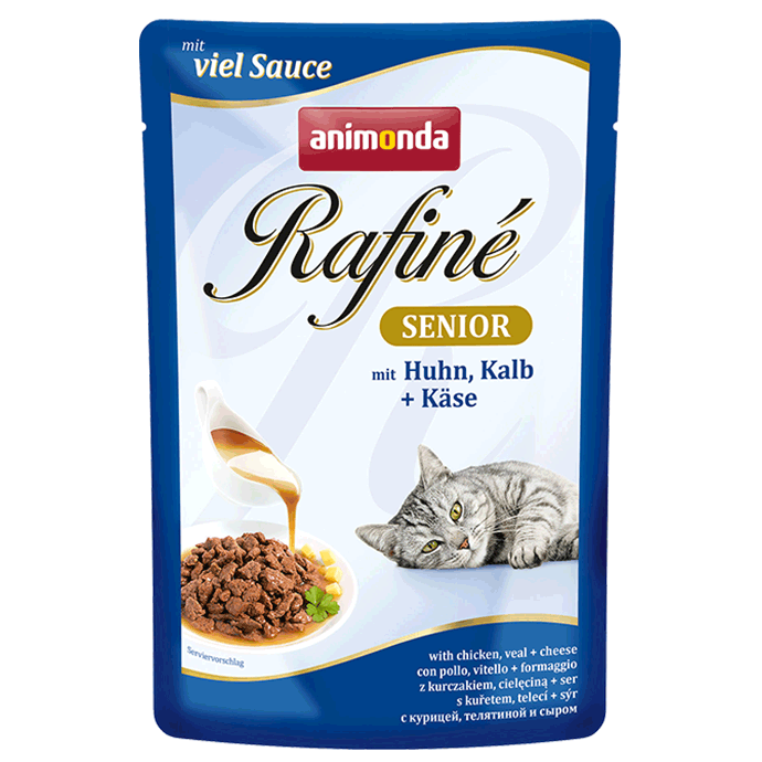 Animonda Rafiné with Sauce Senior, Chicken, Veal & Cheese 100 g 4017721838023 ervaringen