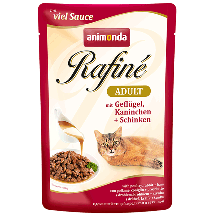 Animonda Rafiné with Sauce Adult with Poultry, Rabbit and Ham 100 g