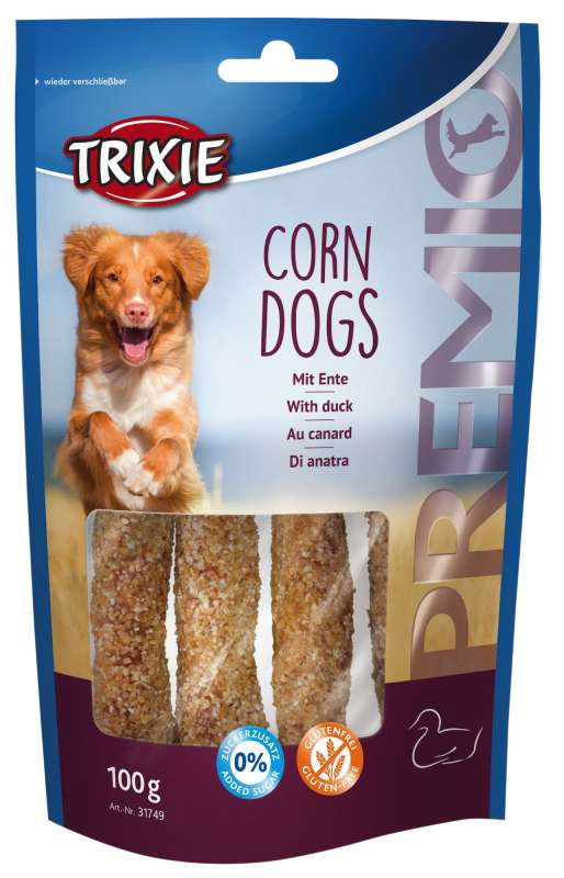 Trixie Premio Corn Dogs mit Ente 100 g bei Zoobio.at