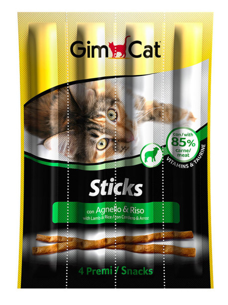 GimCat Lamb and Rice Sticks 20 g, 4x20 g test