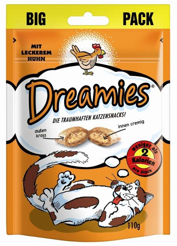 Dreamies Chicken 6x110 g, 110 g