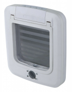 4-Way Cat Flap Hvit