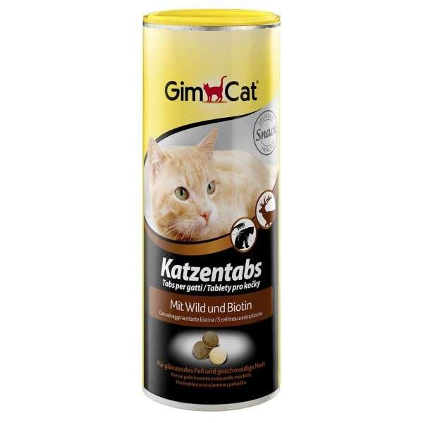 GimCat Cat Tabs with Wild and Biotin 425 g