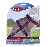 Kitten Harness with Leash, Nylon 120 cm