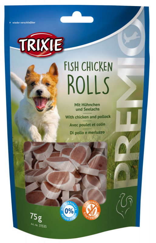 Trixie Premio Fish Chicken Rolls met Kip & Koolvis 75 g 4011905315348