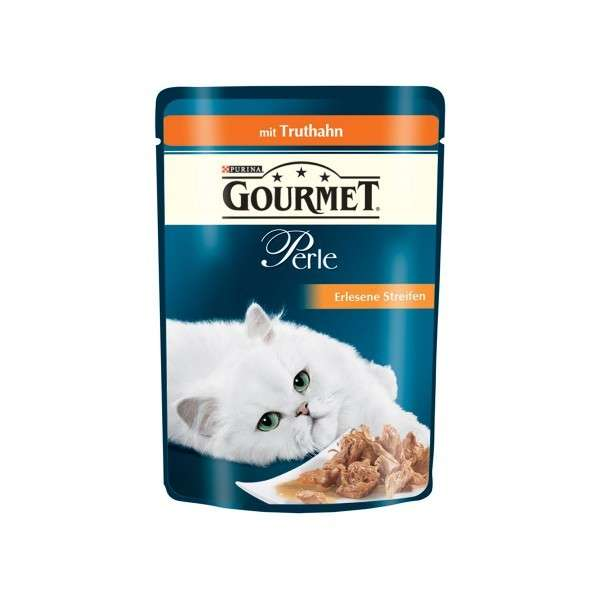Purina Gourmet Perle Mini Fillets in Gravy with Turkey 85 g buy online