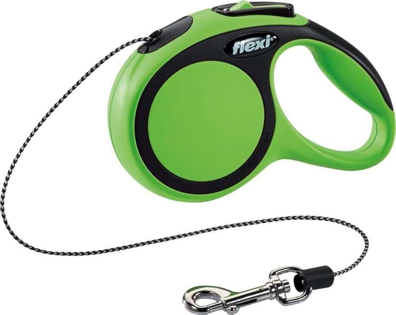 Flexi New Comfort, Cord Leash  Grön XS/3m