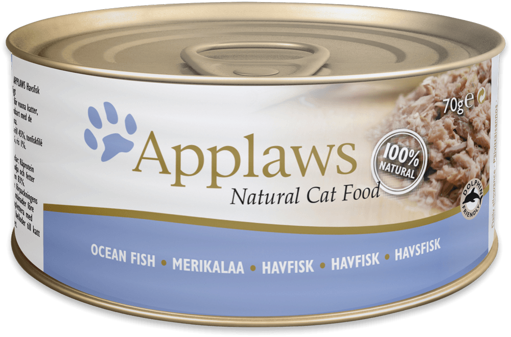 Applaws Natural Cat Food Fisk 70 g 5060122490405 anmeldelser