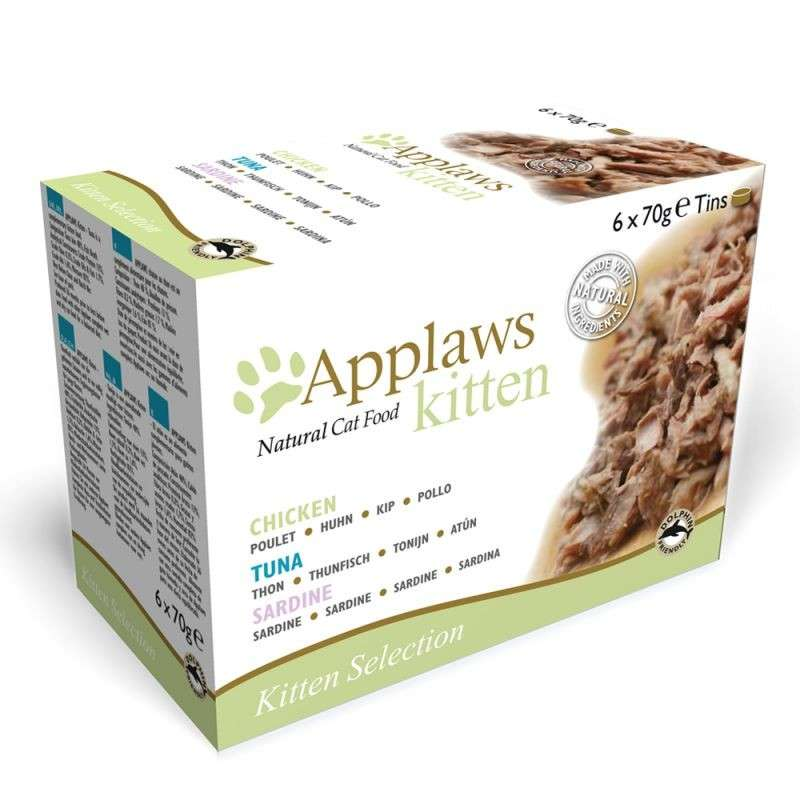 Applaws Multipack Kitten en Boîte 6x70 g