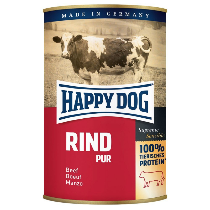 Happy Dog Blikje Rind Pur 200 g 4001967021820