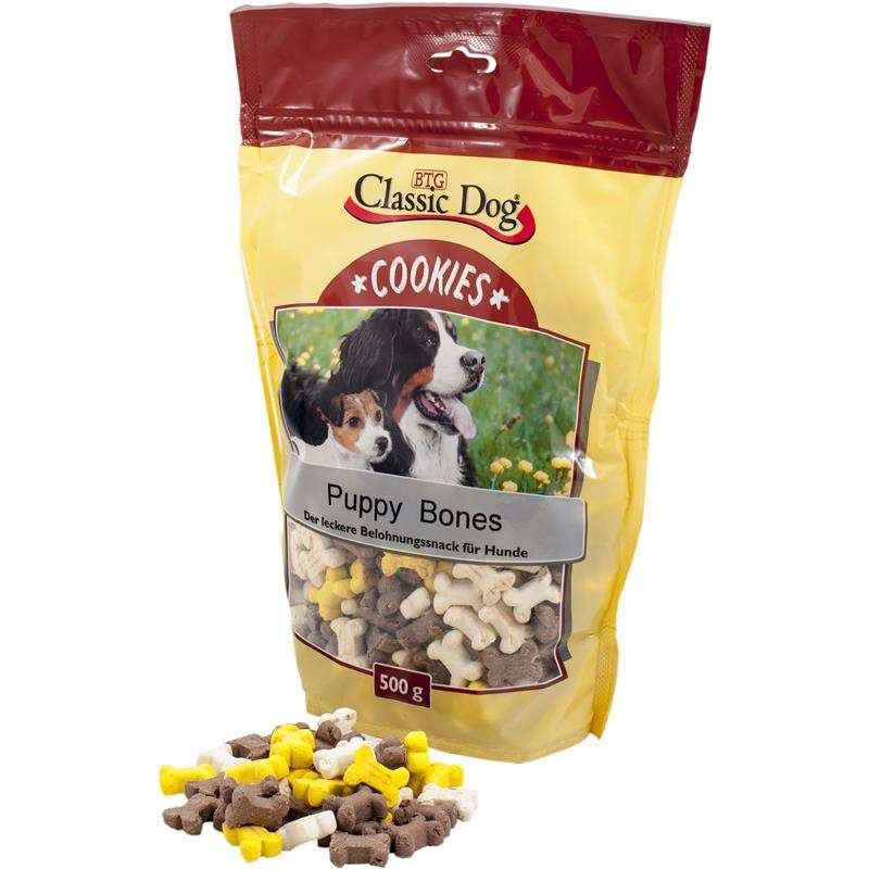 Classic Dog Snack Cookies Puppy Bones 500 g, 10 kg