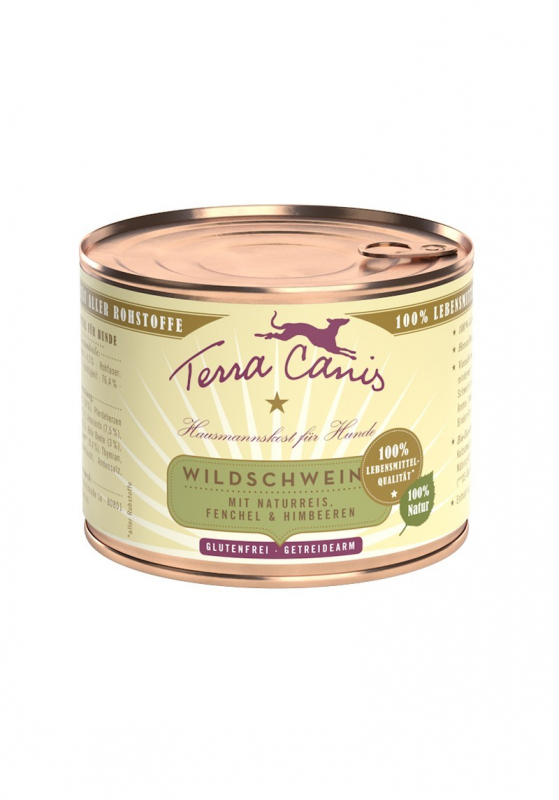 Terra Canis Wild Boar with Natural Rice, Fennel & Raspberries 200 g