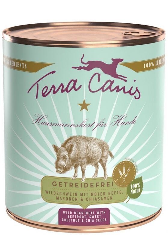 Terra Canis Wild Boar with Beetroot, Sweet Chestnut & Chia seeds 800 g 4260109624163