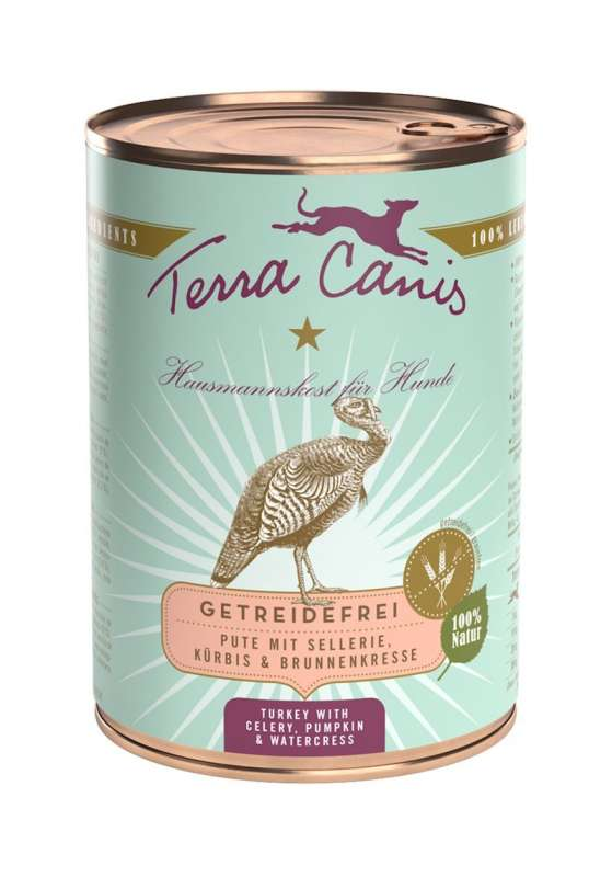 Terra Canis Menu Grain-Free, Turkey with celery, pumpkin and watercress 400 g 4260109622350