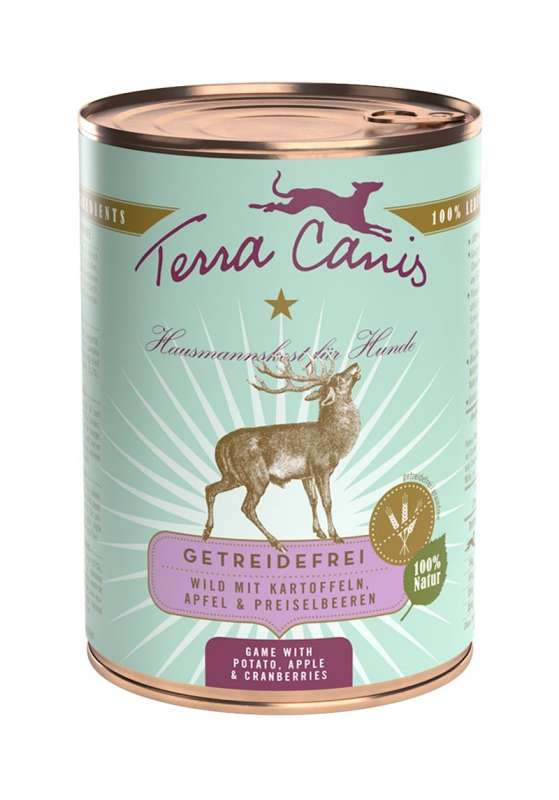 Terra Canis Menu Grain-Free, Game with Potato, Apple & Cranberries 400 g
