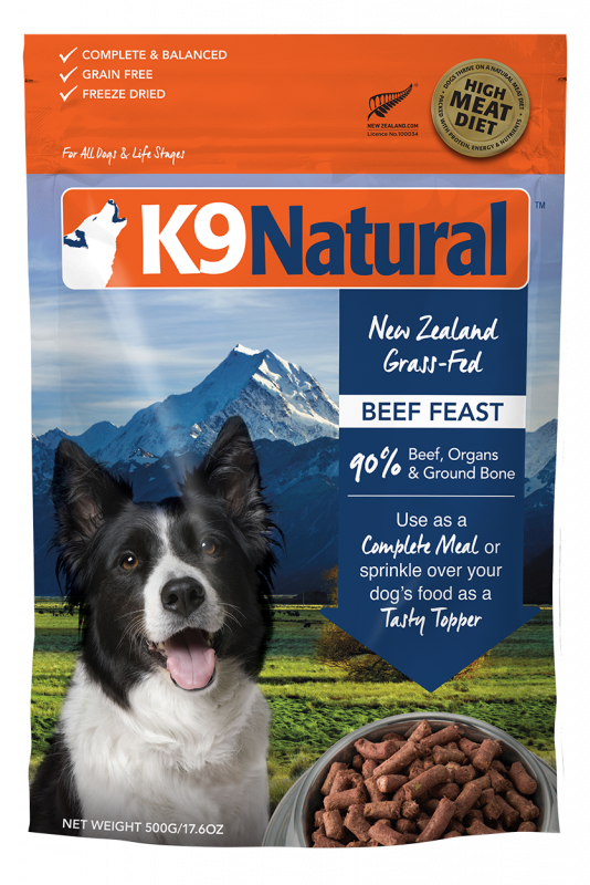 K9 Natural Freeze Dried Beef Feast 500 g 9421900779154 avis