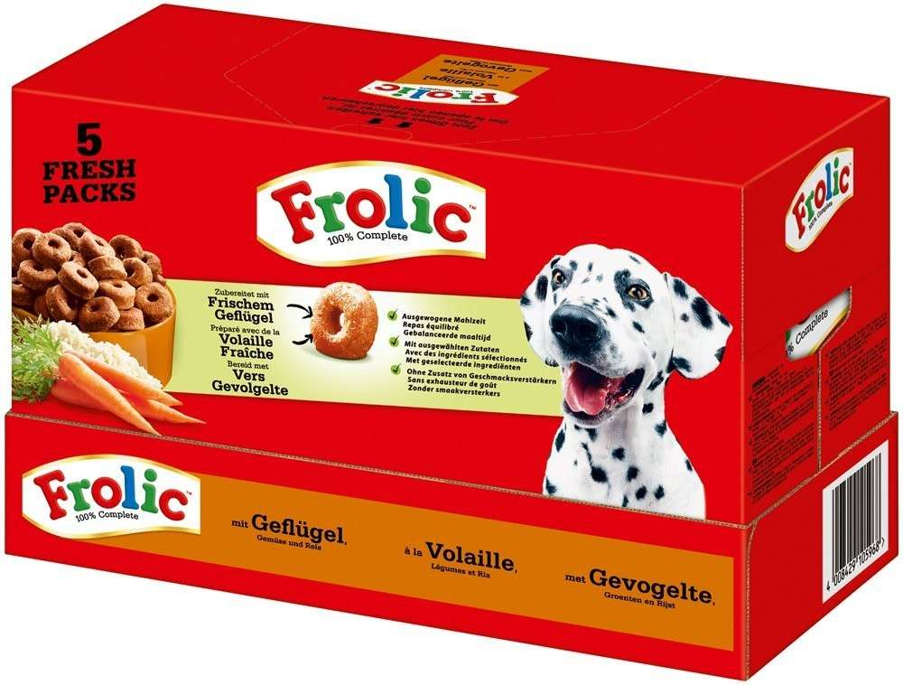 Frolic 100% Complete with Poultry, Vegetables & Rice 7.5 kg 4008429105968 erfaringer