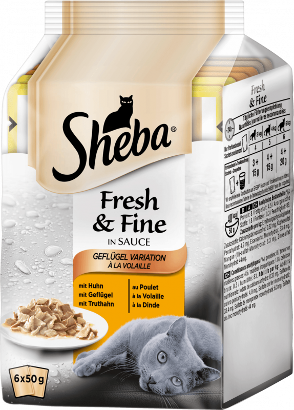 Sheba Fresh & Fine - Poultry Collection in Gravy Multipack 6x50 g order cheap