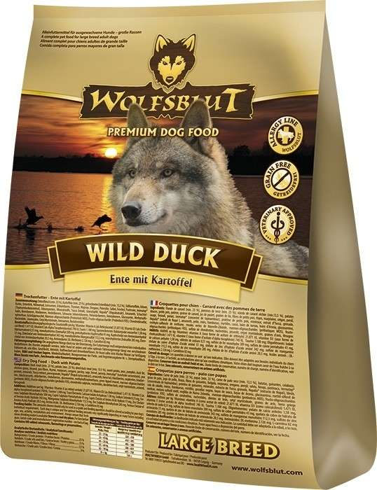 Wolfsblut Wild Duck Large Breed con Pato y Patatas 2 kg, 15 kg