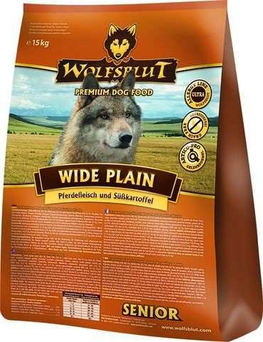 Wolfsblut Wide Plain Senior hourse meat with sweet potatoes 7.50 kg, 500 g, 2 kg, 15 kg köp billiga på nätet