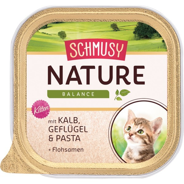 Schmusy Nature Balance Kitten Veal & Poultry 190 g, 100 g