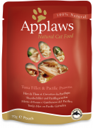 Applaws Pouch with Tuna Fillet & Pacific Prawn in Broth 70 g