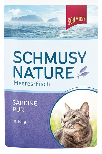 Schmusy Natural Ocean Fish Sardine pure in Jelly 100 g osta edullisesti
