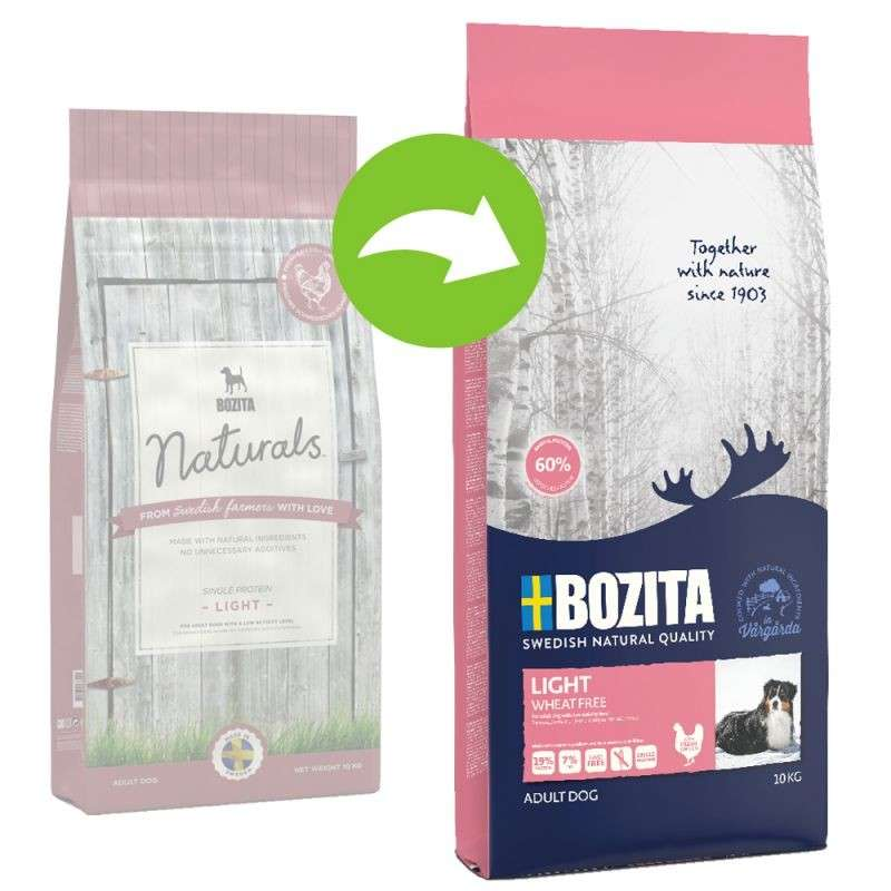 Bozita Light 2.4 kg, 10 kg