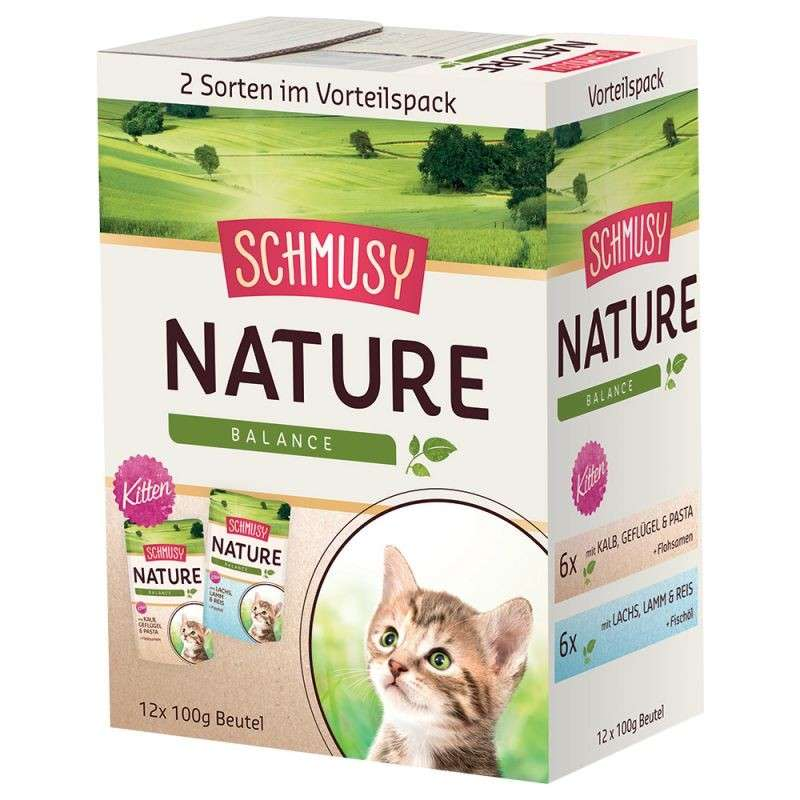 Nature Balance Kitten Multibox Pouches by Schmusy 12x100 g buy